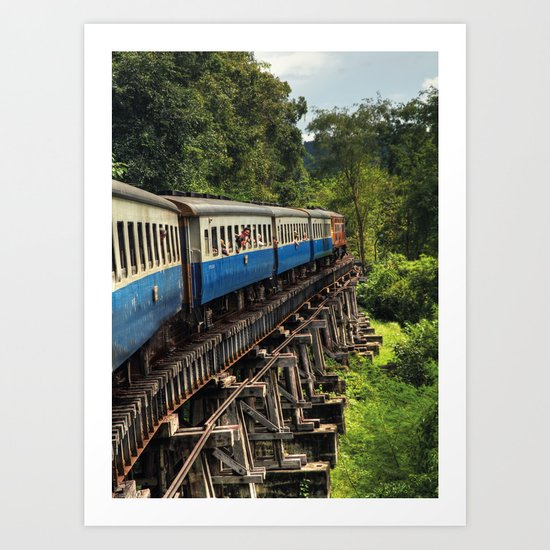 Train - Ayutthaya - Thailand Art Print