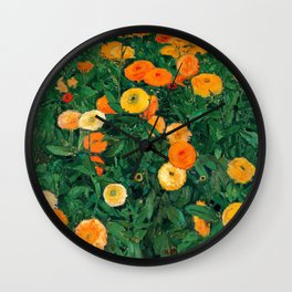Marigolds by Koloman Moser, 1909 Wall Clock