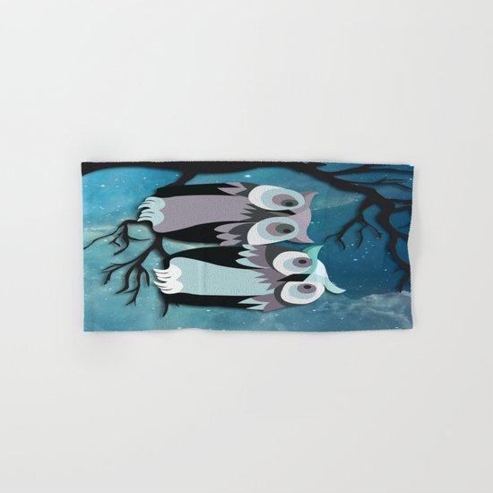 Owls In Moonlight Hand & Bath Towel