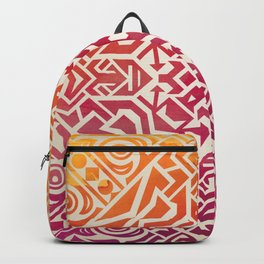 mandala9 Watercolor Mandala Backpack