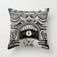 illuminati Throw Pillows featuring Illuminati by Mike Friedrich