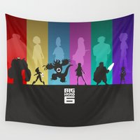big hero 6 Wall Tapestries featuring The Big Hero 6 by Travis Love