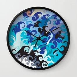 ' Wavez ' By: Matthew Crispell Wall Clock