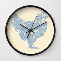 henna Wall Clocks featuring Henrietta's Henna by Farnell