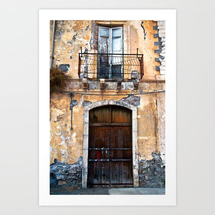 Sicilian facade of Taormina Art Print