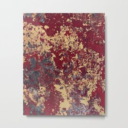 Spatter Metal Print