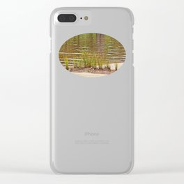 Beautiful River Grass Clear iPhone Case