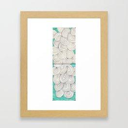 swirl pattern Framed Art Print