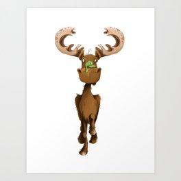Moose Named Moe Art Print