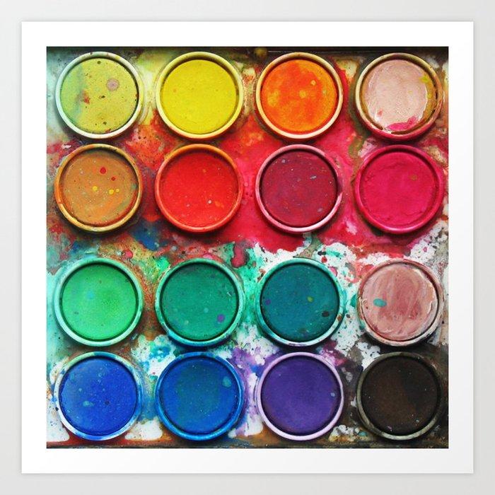 Paintbox Color Palette Art Print