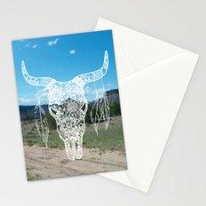 New Mexico Bull Skull Stationery Cards