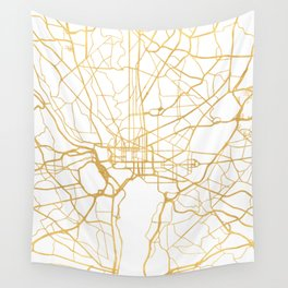 WASHINGTON D.C. DISTRICT OF COLUMBIA CITY STREET MAP ART Wall Tapestry