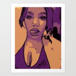 Purple Lip Licker Art Print