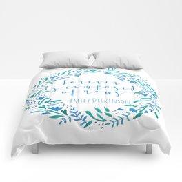 Watercolor Wreath Comforters
