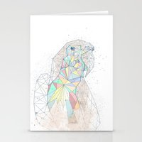 parrot Stationery Cards featuring parrot by Narek Gyulumyan