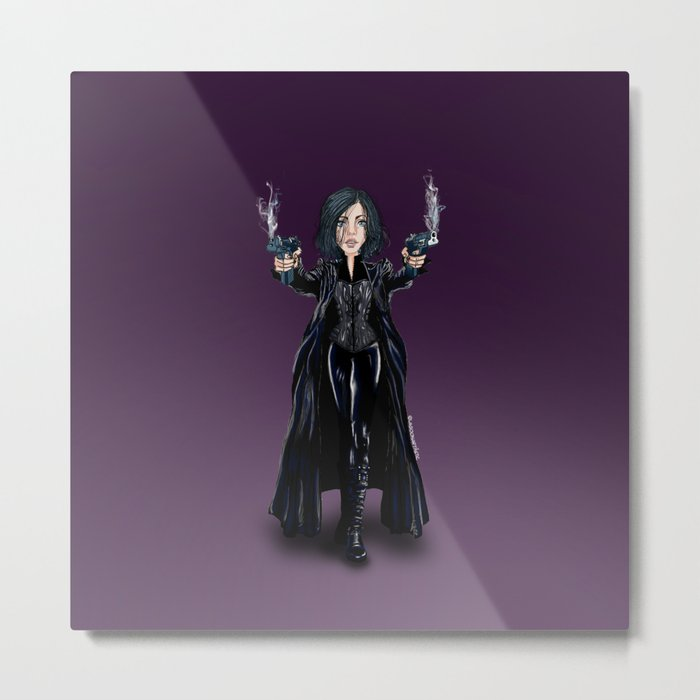 Selene, Vampire Death Dealer Metal Print