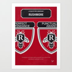 No791 My Rushmore minimal movie poster Art Print