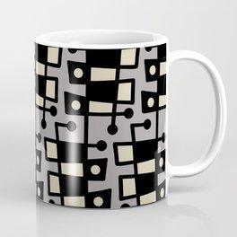 Mid Century Modern Abstract 212 Gray Coffee Mug