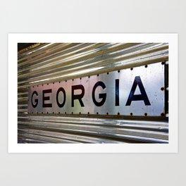Georgia Railroad Art Print