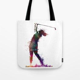 Golf player art 2 Tote Bag
