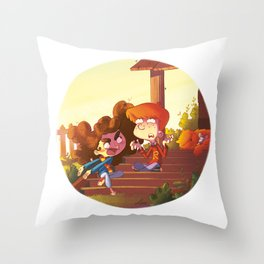 Ron & Hermione - Mouse & Cat Throw Pillow