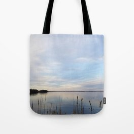 Twilight Serenity - Clouds and reflections on University Bay Tote Bag