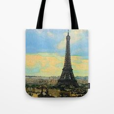 Watercolor Dream of Paris Tote Bag