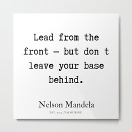 58  | Nelson Mandela  Quotes | 190818 Metal Print