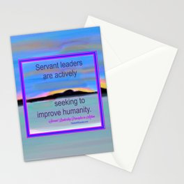 Servant Leadership in Action Stationery Cards