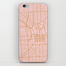 Pink and gold Adelaide map iPhone Skin
