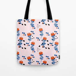 Illustrated Garden Pattern Tote Bag