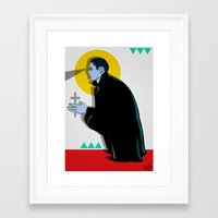 vampire Framed Art Prints featuring Vampire by Musya