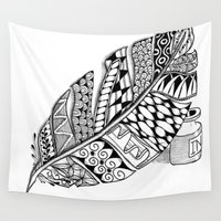 writer Wall Tapestries featuring Writer Love by Vermont Greetings