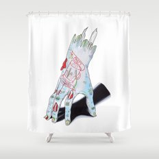 Zombie Girl Shower Curtain
