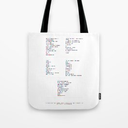 Bloc Party Discography - Music in Colour Code Tote Bag