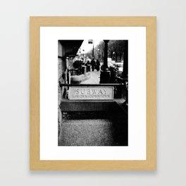 Uptown-Downtown Framed Art Print