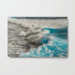 Crashing Waves Artistic Processed Photo Metal Print