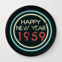Happy New Year 1959! Wall Clock