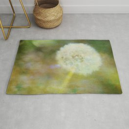 Dandelion Wishes Yellow Rug