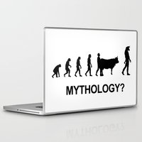 mythology Laptop & iPad Skins featuring Minotaur mythology by Komrod