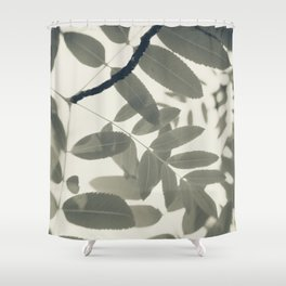 Light Green Forest Leaves Abstract Shower Curtain