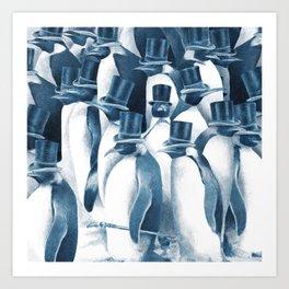A Gathering of Gentlemen (square format) Art Print