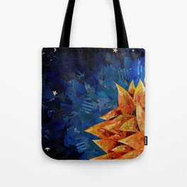 Star Bloom Collage Tote Bag