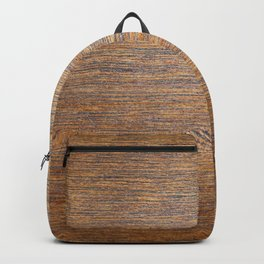 Rustic brown gold wood texture Backpack