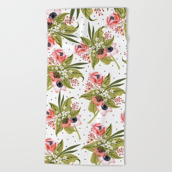 Flowers bouquet #15 Beach Towel