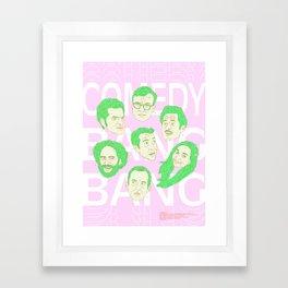 Comedy Bang Bang Framed Art Print