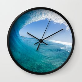 Blue Wave Wall Clock