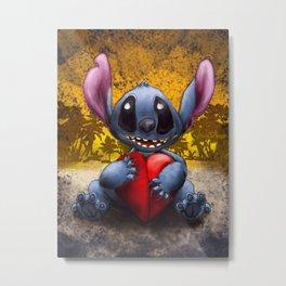 Valen Stitch Metal Print
