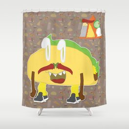 Feed Me- Tacito Shower Curtain
