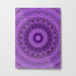 mandala purple balls Metal Print